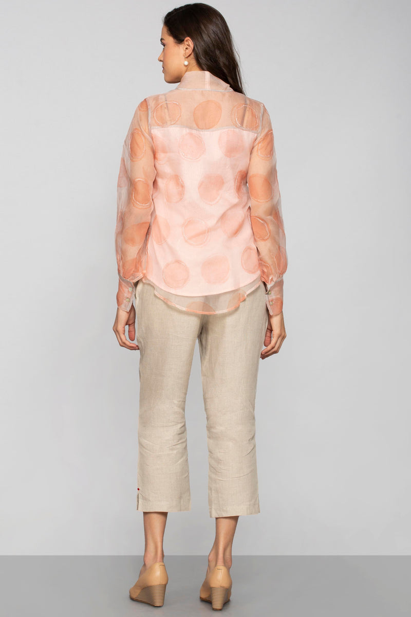 Circles in the Sand Shimmer Top Dusty Rose-Tops-KAVERi