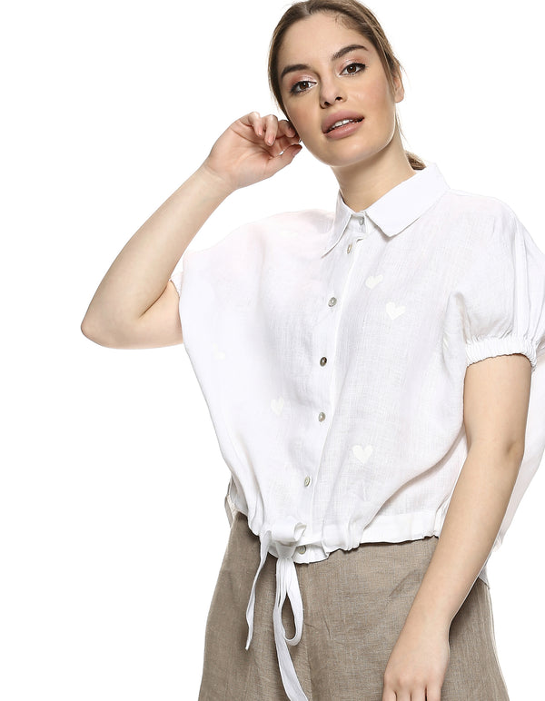 Dolly Heart Shirt- White-Shirt-KAVERi