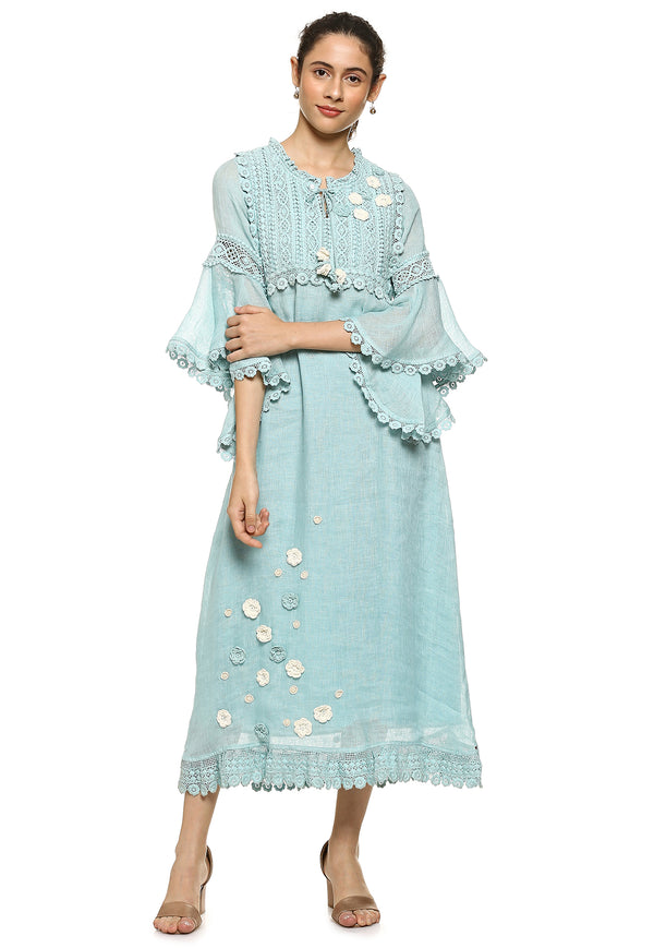 Dream Love Betty Mex Pex Cloud Blue-Dresses-KAVERi