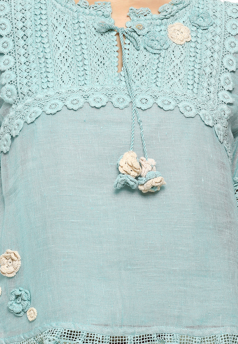 Dream Love Edith Top Cloud Blue-Tops-KAVERi