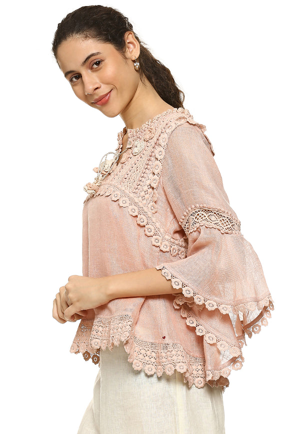 Dream Love Edith Top Dusty Rose-Tops-KAVERi