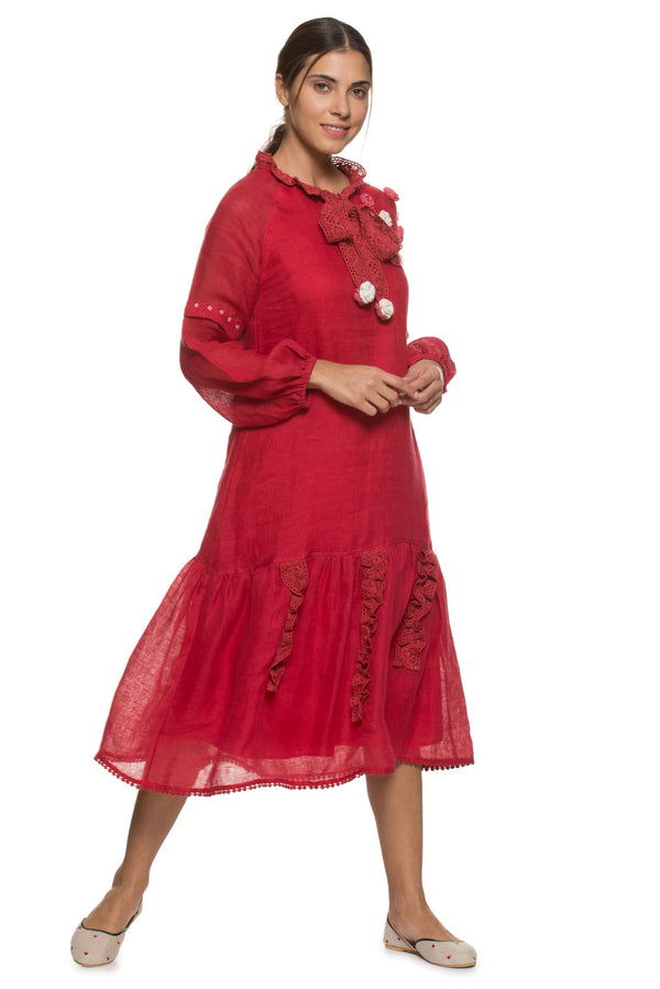 Dream Love May Red Dress-Dresses-KAVERi