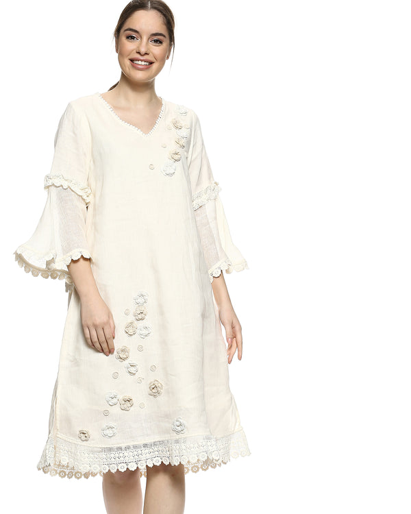 Dream Love Veronica Off White Dress-Dresses-KAVERi