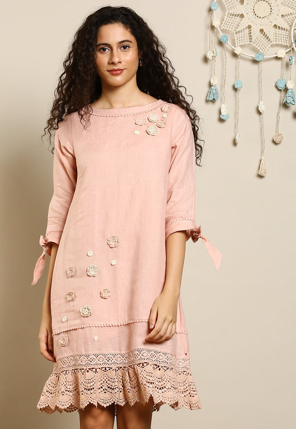 Dream Love Mona Dusty Rose Dress-Dresses-KAVERi