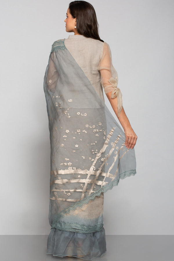 Eyelash Blouse Natural-Sarees-KAVERi