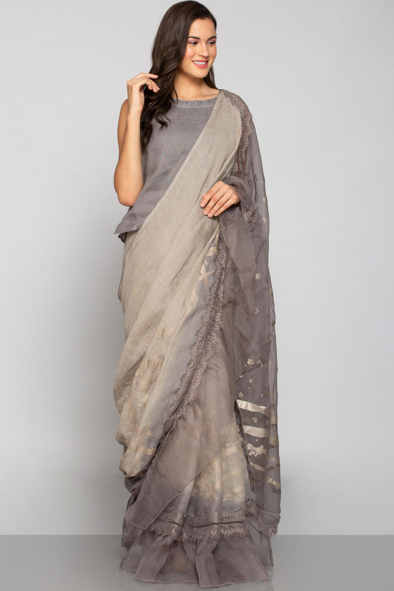 Eyelash Saree Space-Sarees-KAVERi