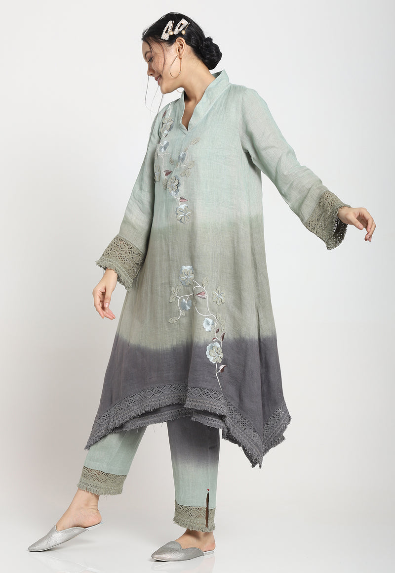 I MUST HAVE LOTS OF FLOWERS FLY FREE TUNIC SEA FOAM-Tunic Set-KAVERi
