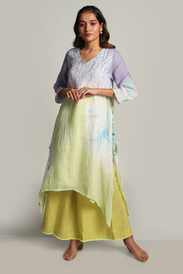 Sun Rises But Never Sets Fly Free Tunic Set-Kurta Set-KAVERi