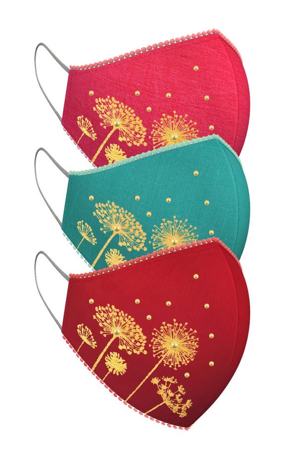 FLOATING DANDELION | Set of 3-Masks-KAVERi