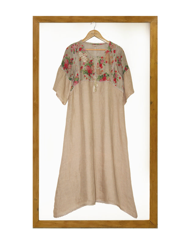 Floxy Flora Mex Pex- Natural-Dress-KAVERi