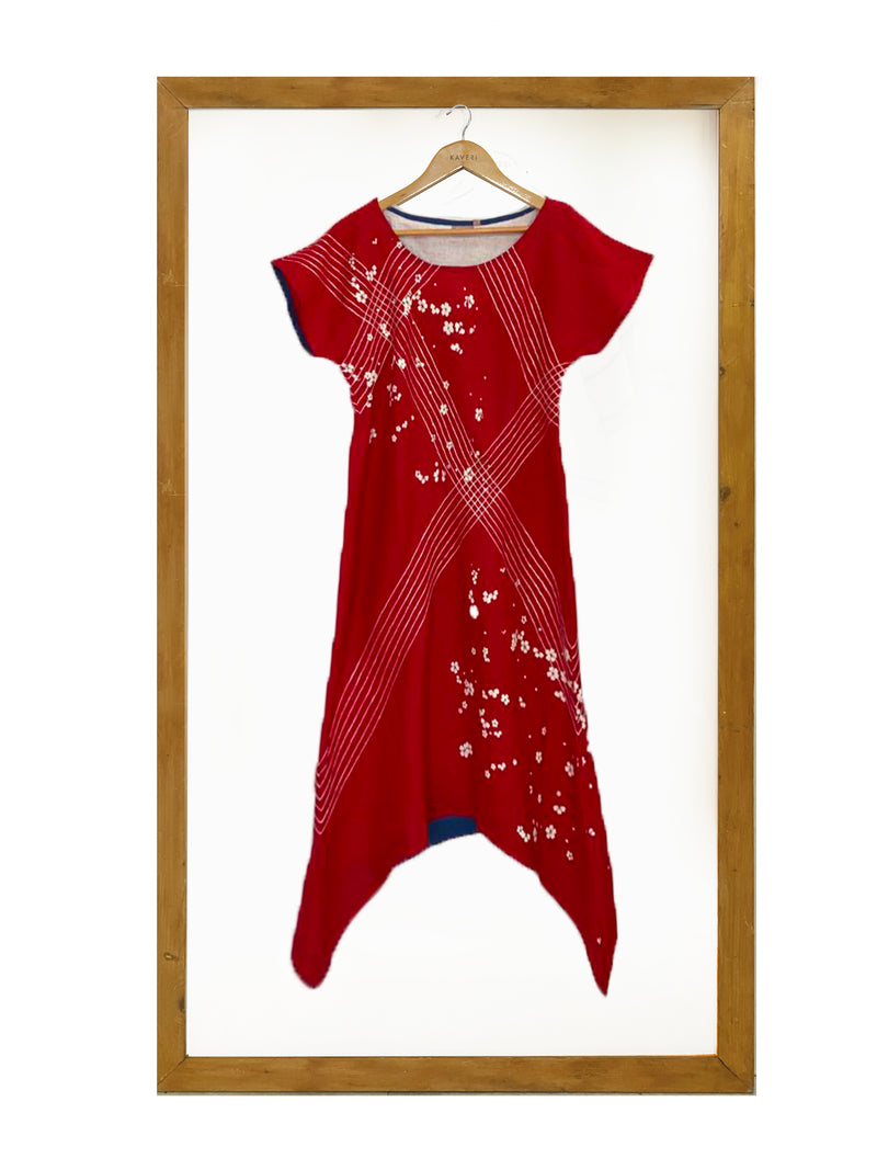 Criss Cross Hanami Dress- Red-Dress-KAVERi