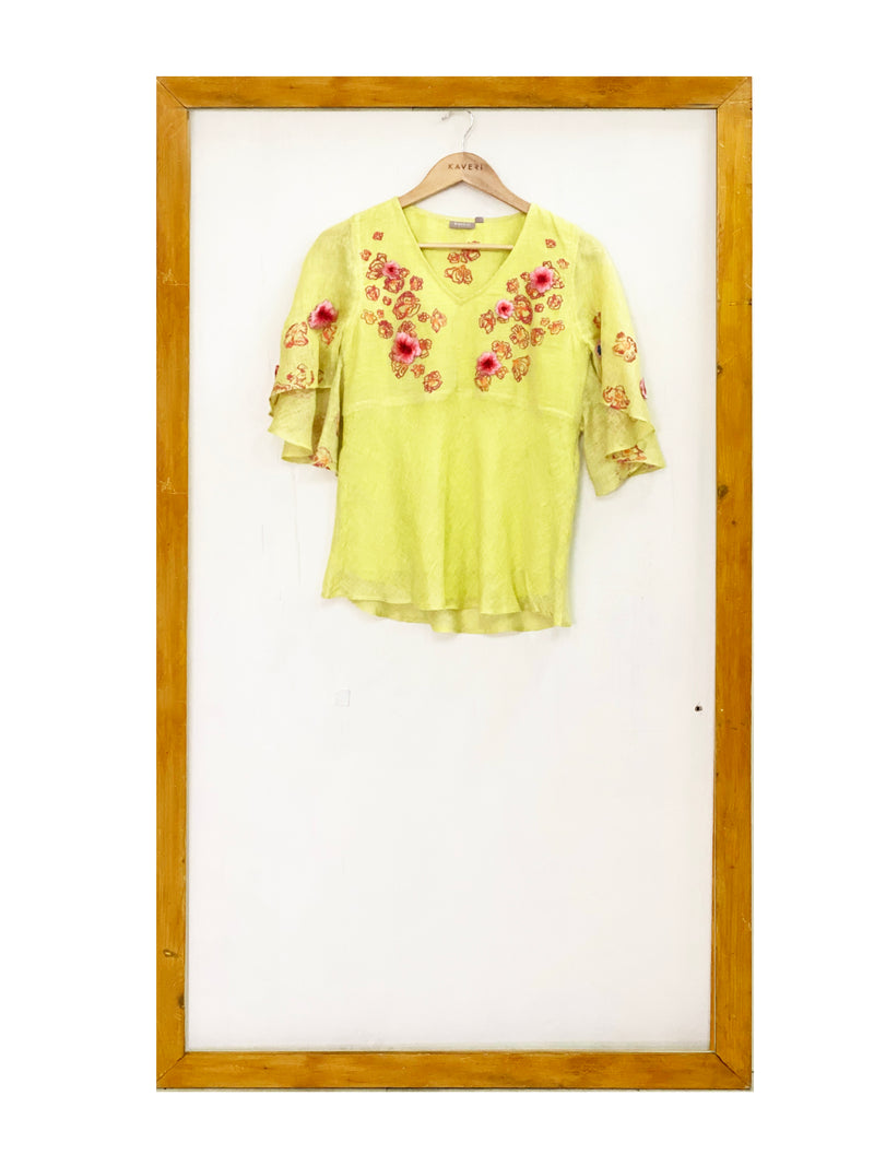Free Fida Canary Butterfly Top-Top-KAVERi
