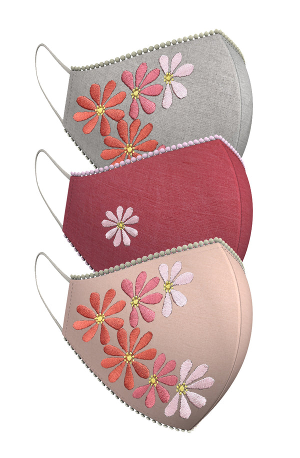 WHERE FLOWERS BLOOM, SO DOES HOPE! | Set of 3-Masks-KAVERi