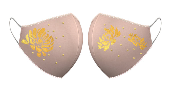 GOLD LOTUS | Set of 3-Masks-KAVERi