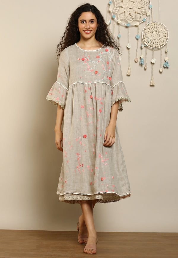 Hanami Amanda Dress Natural-Dresses-KAVERi