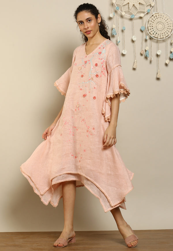 Hanami Two Layered Dress Dusty Rose-Dresses-KAVERi