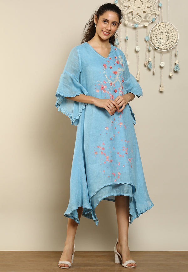 Hanami Two Layered Dress Ocean-Dresses-KAVERi