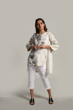 Petals & Planes Hi-Lo Top Off-white-Tops-KAVERi