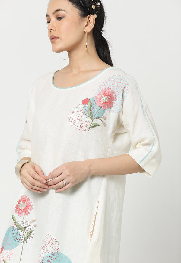 EVERYTHING STARTS FROM A DOT JANE DRESS OFF-WHITE-Dress-KAVERi