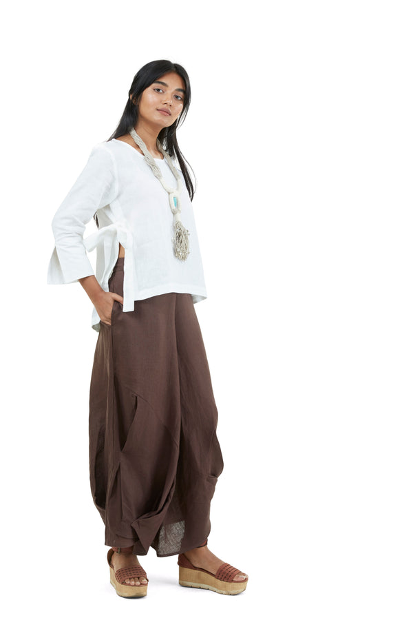 Pant and Top Chocolate and White-Co-Ords-KAVERi