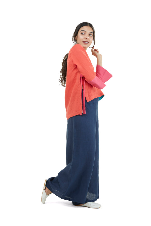 The Pant Story Dolly Pocket Pants Navy-Pants-KAVERi