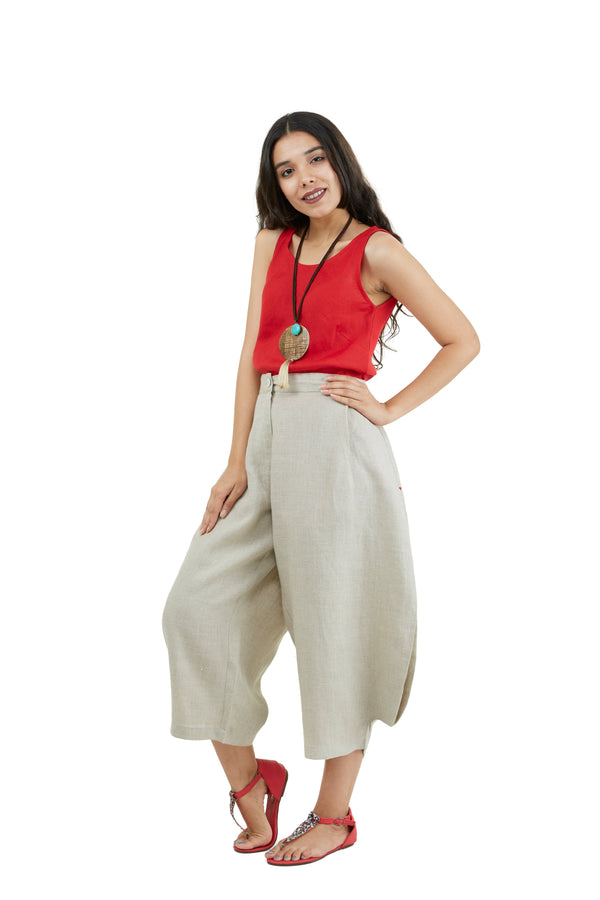 The Pant Story Pop Crop pants natural-Pants-KAVERi