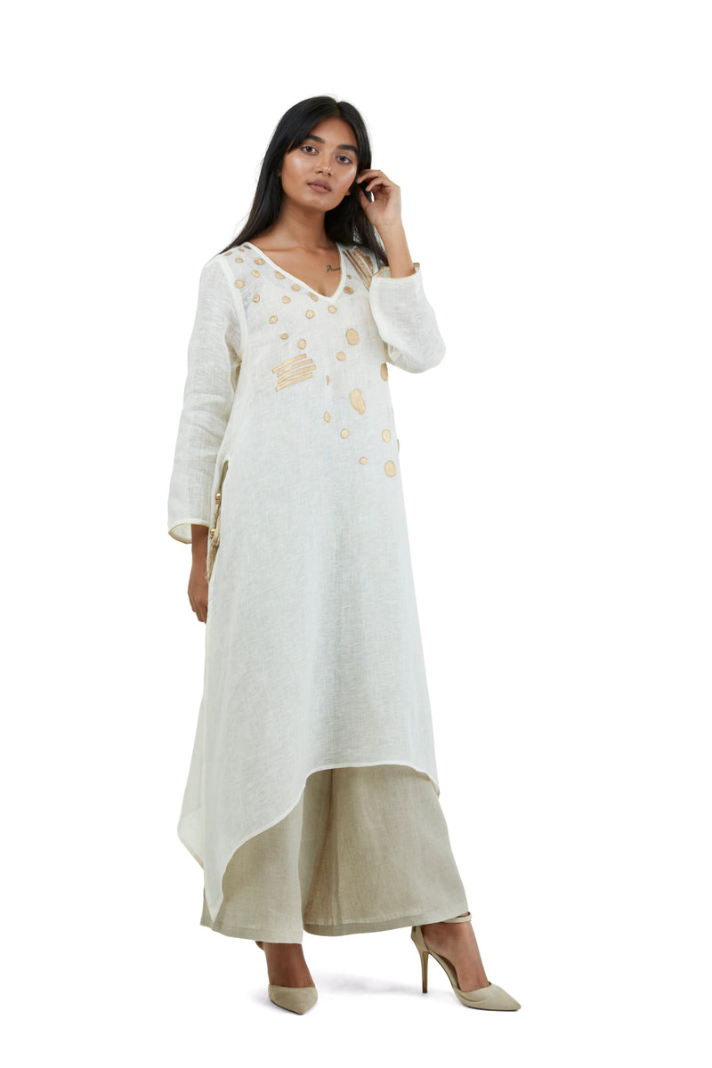 Golden Pebble Fly Free tunic Off White-Tunic-KAVERi