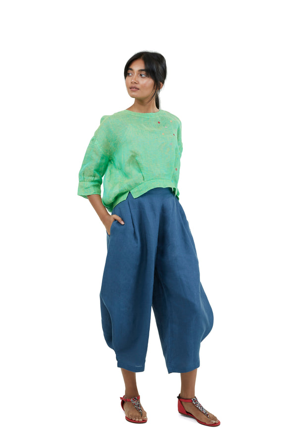 The Pant Story Pop Crop pants denim-Pants-KAVERi
