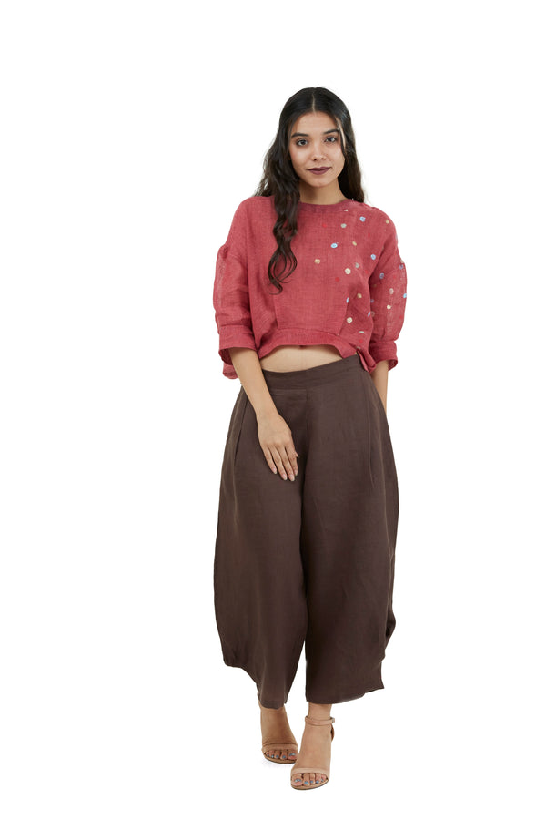 The Pant Story Pop Crop pants chocolate-Pants-KAVERi