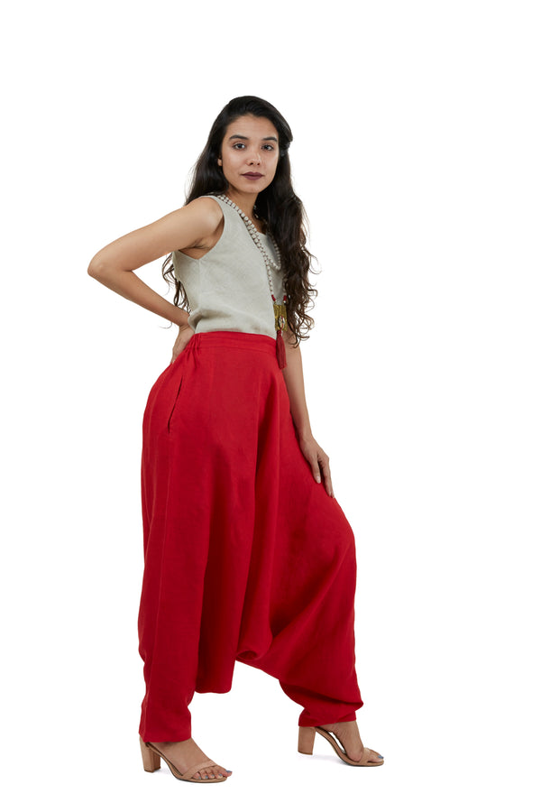 The Pant Story Goa Pants Red-Pants-KAVERi