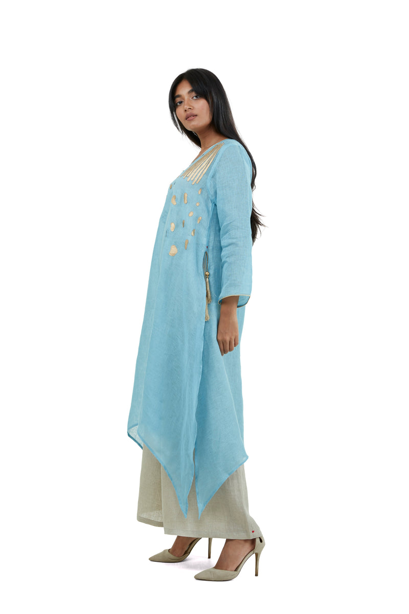 Golden Pebble Fly Free tunic Ocean-Tunic-KAVERi