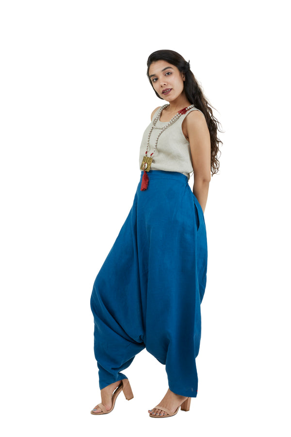 The Pant Story Goa Pants Teal Blue-Pants-KAVERi