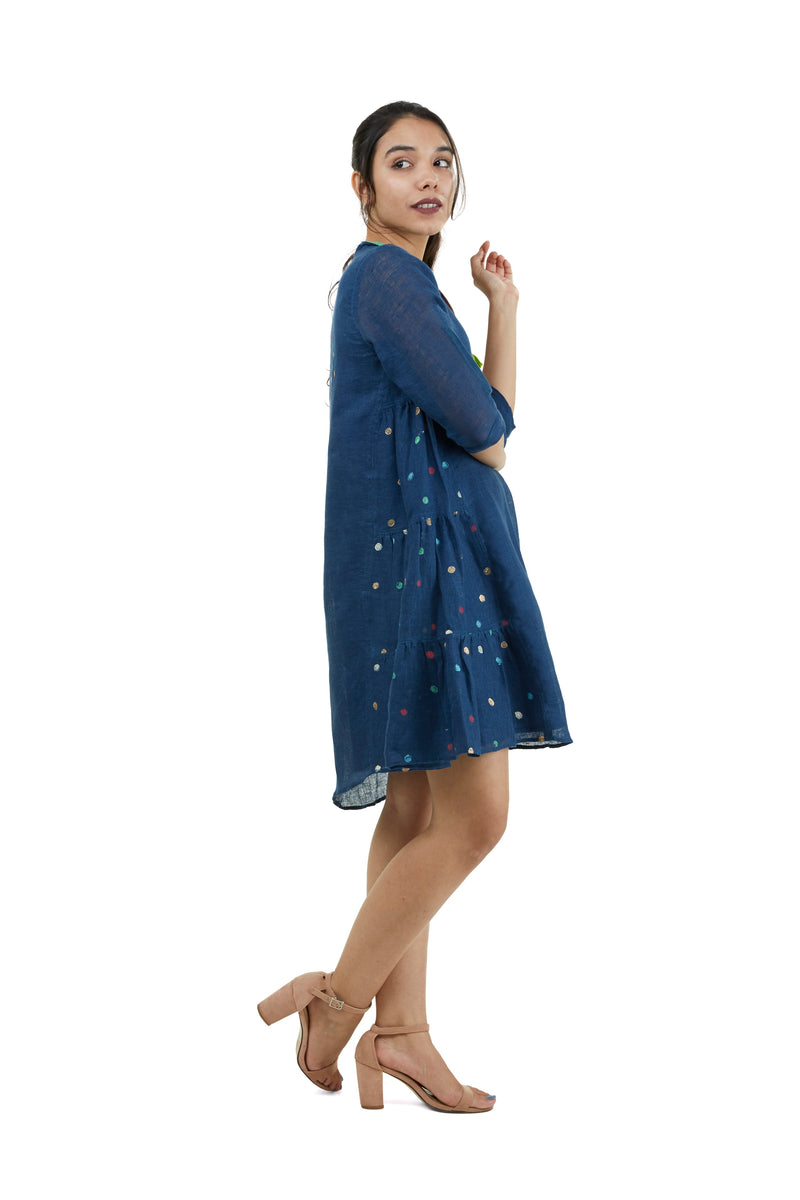 Dot the Map New York Dress Navy-Dress-KAVERi
