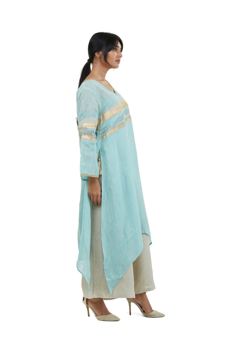 Golden Sands Fly Free tunic Lagoon-Tunic-KAVERi