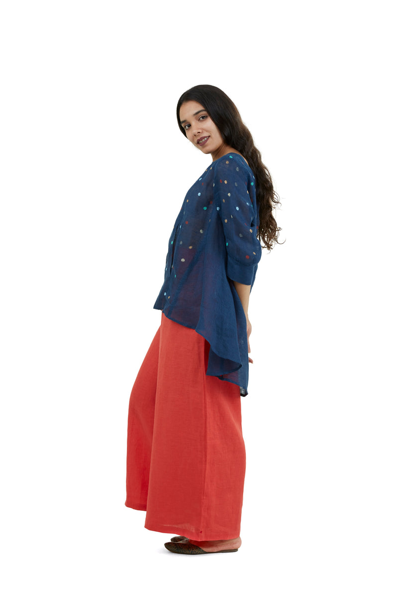 Stylish Staples Palazzo Pants tomato-Pants-KAVERi