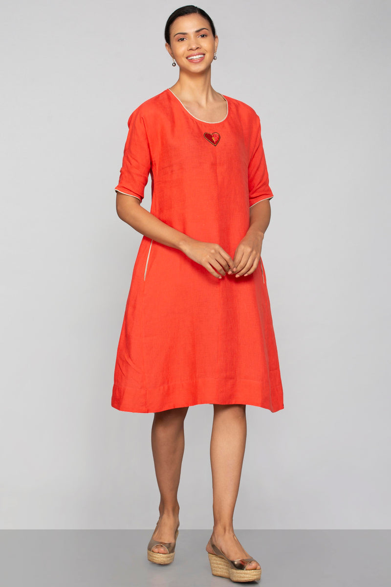 Key to My Heart Jane Dress Tomato-Dresses-KAVERi