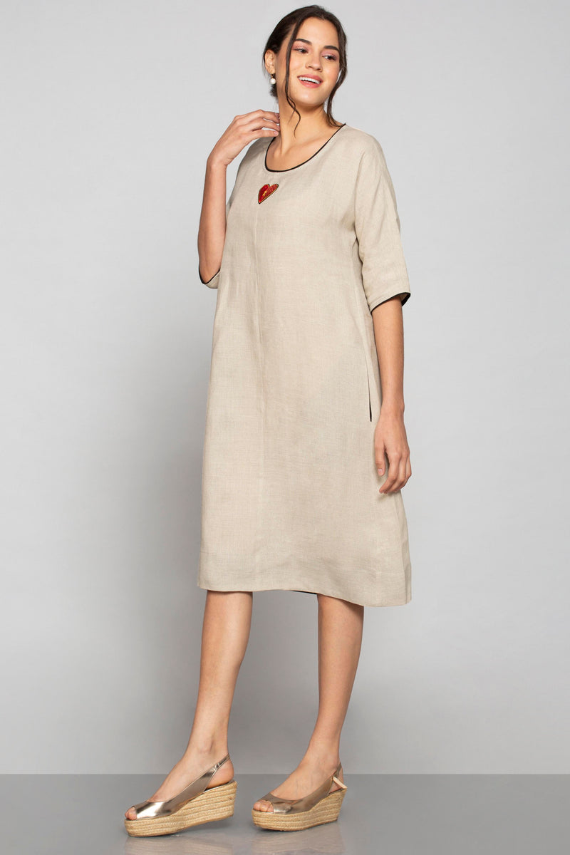 Key to My Heart Jane Dress Natural-Dresses-KAVERi