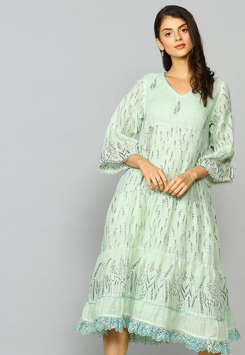 Lavender Lane Mia Dress Sage-Dresses-KAVERi