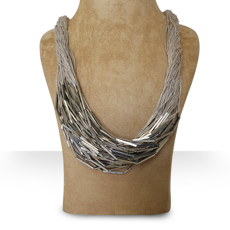 LIGHTNING - SILVER-Necklace-KAVERi