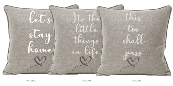 THIS TOO SHALL PASS | Set of 3 Cushions-Cushion-KAVERi