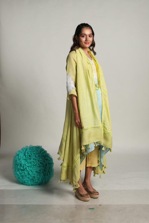 The Sun Rises But Never Sets Luna Cape Fly Free Tunic Cigarrete Pant-KAVERi
