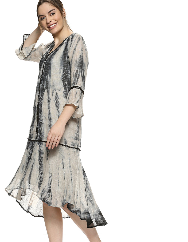 Dress Express Mayan Flute Dress Natural - Black-Dress-KAVERi