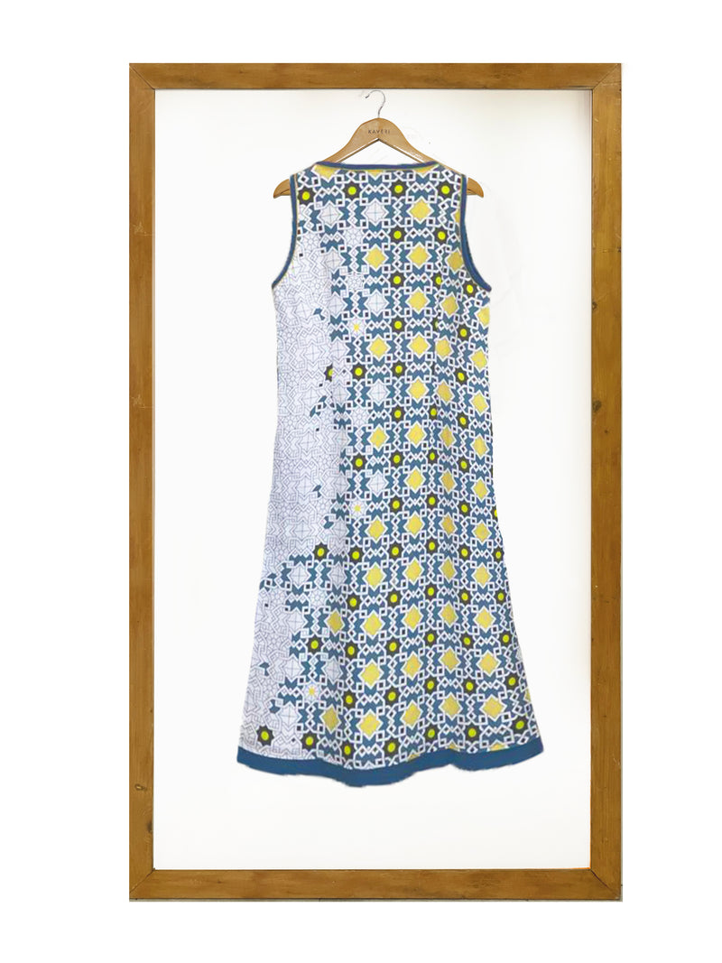 Mosaic Sloane Dress- Blue-Dress-KAVERi