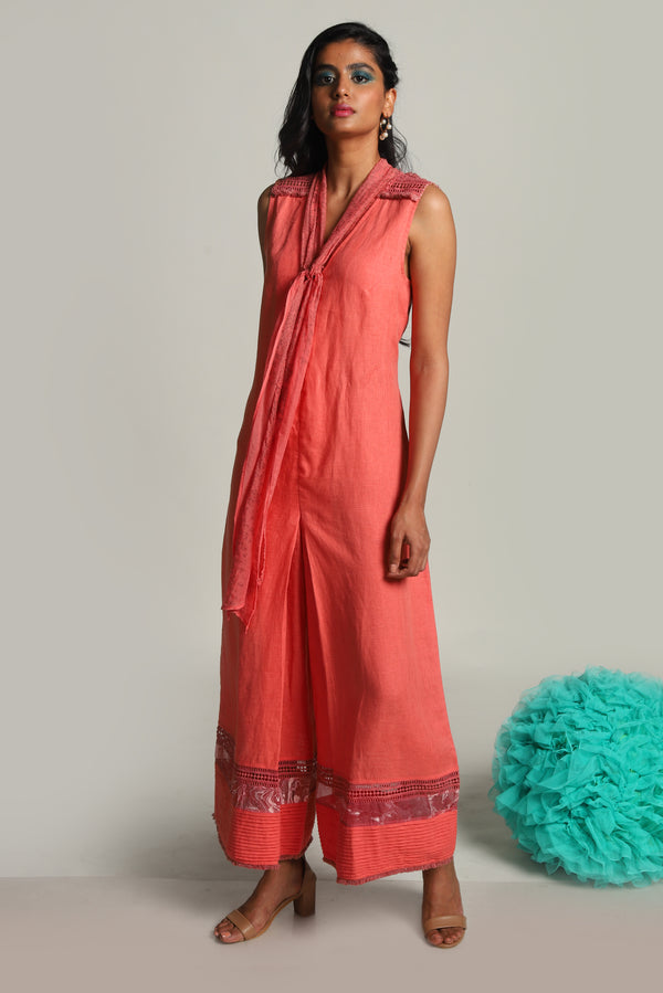 Oceans of Love Nautica Jumpsuit Watermelon-Jumpsuits-KAVERi