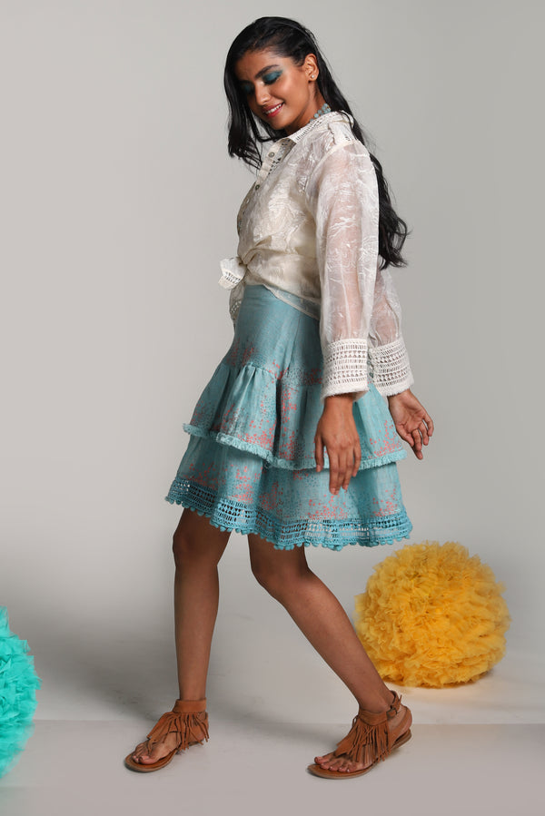 Oceans of Love Ocean Skirt Lagoon-Skirts-KAVERi