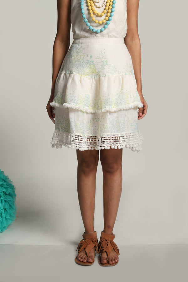 Oceans of Love Ocean Skirt Off-White-Skirts-KAVERi