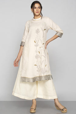 Plant Panorama Tunic Off-White-Tunics-KAVERi