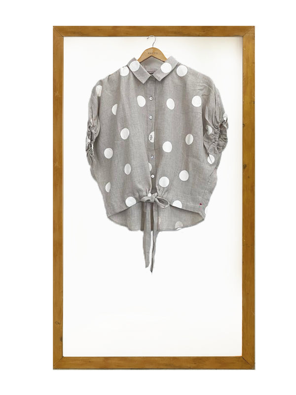 Polka Dot Dolly Shirt- Natural-Shirt-KAVERi