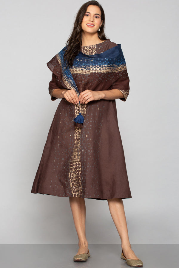 Rubix Portia Dress Choco+Navy-Dresses-KAVERi