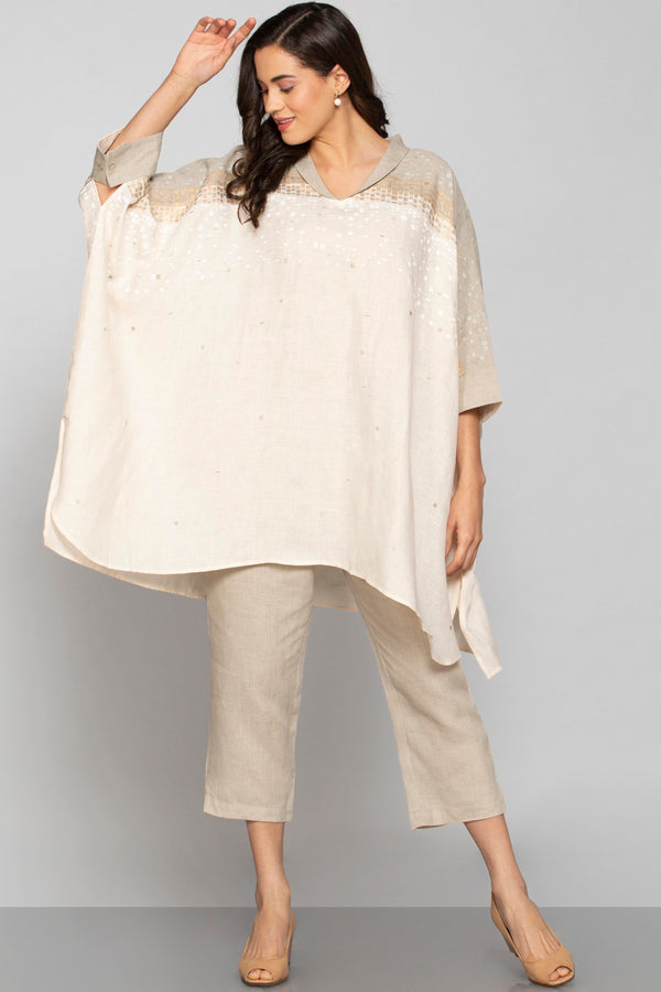 Rubix Square Top Natural + Off white-Tops-KAVERi